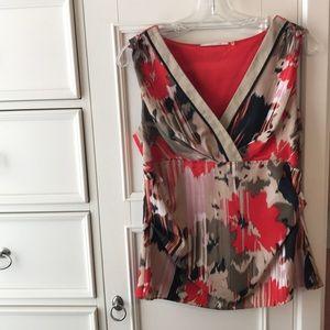 T Tahari silk blouse